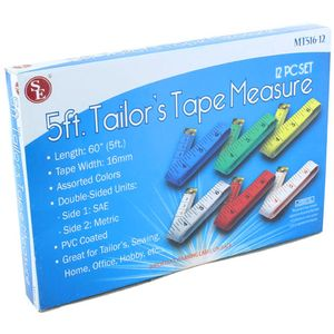 Photo of the 5ft 1.5m Tailors Tape Measure - pack of 12