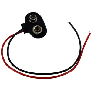Photo of the: 9V Battery Snap Connector with Leads