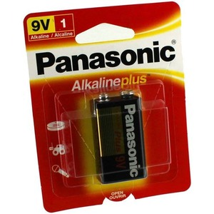 Photo of the: 9V Panasonic Alkaline Plus Battery