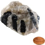 Photo of the: Black Tourmaline In Quartz - Large Chunk (2-3 inch