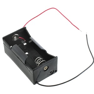 Photo of the: D Battery Holder with Leads - 1.5V