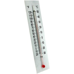 Photo of the: Dual Thermometer with Plastic Backing