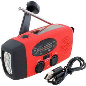 Photo of the: Emergency Solar Hand-Crank Radio Flashlight