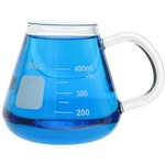 Glass Erlenmeyer Mug - 400ml.