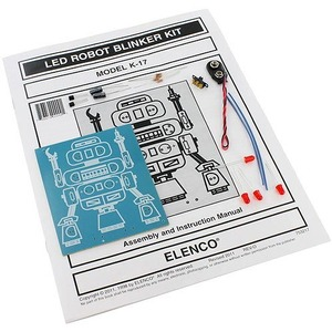 Photo of the: LED Robot Blinker Electronics Solder Kit