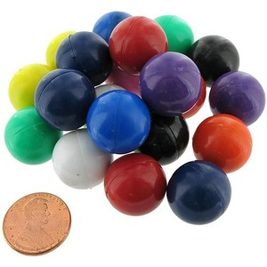 Photo of the: 20 Magnet Marbles - Solid Color