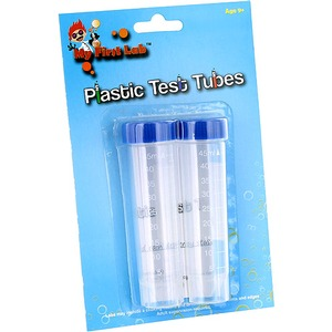 Photo of the: Plastic Test Tubes with Caps - Pack of 2