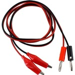 Photo of the: Red/Black Alligator-to-Banana Cable Pair - 1m