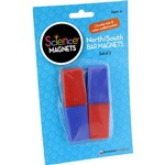Photo of the: Red-Blue Plastic Encased Bar Magnets - pack of 2