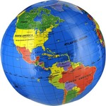 Photo of the: 12 inch Inflatable World Globe by Tedco