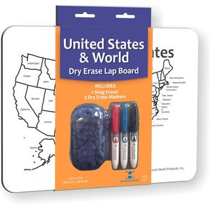 Photo of the: USA/World Dry Erase Lap Board