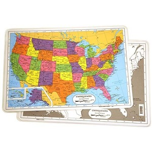 u s map placemat