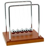 Wood Grain Newtons Cradle.