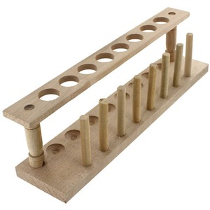 Photo of the: Wooden Test Tube Rack