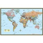 Photo of the: World Map Poster - Laminated