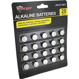 Photo of the AG-13 Alkaline Batteries - 20 pack