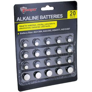 Photo of the Alkaline Button Cell Watch Batteries Assortment - set of 20