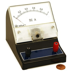 Photo of the Analog DC AmpMeter 0-1A