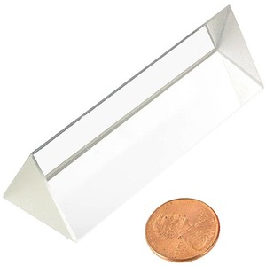 Photo of the Equilateral Optical Glass Prism - 25 x 75 mm