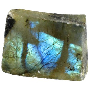 Photo of the Labradorite Chunk - 1 inch with One Polished Side