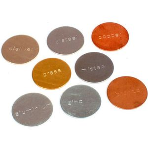 Photo of the: Metal Disc Set - 8 Metals - Stamped 1inch