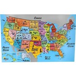 Photo of the: USA Magnetic Puzzle Map