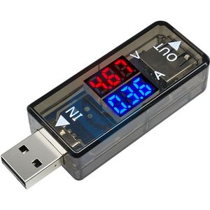 Photo of the: In-Line USB Voltage and Current Meter 3.3-18V 0-3A