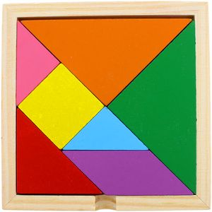 Photo of the Wooden Tangram Puzzle