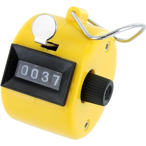 Photo of the Yellow Hand Tally Counter
