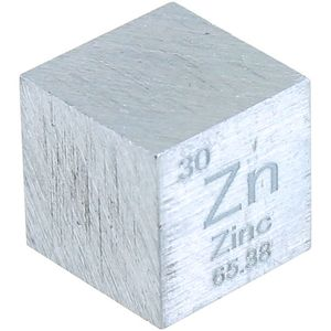 Photo of the: Zinc Metal Cube - 10mm 99.95% Pure